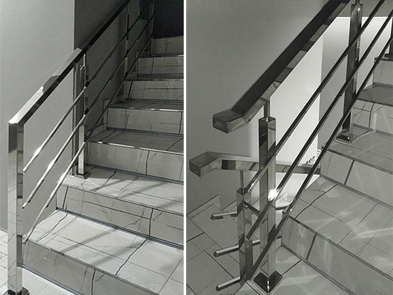 Перила з нержавійки в Козині. Перила на сходи. Перила з нержавійки Київ